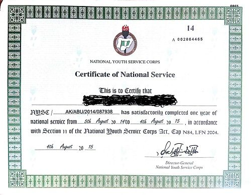 How To Process Nysc Exemption Certificate Without Stress Campustimesng
